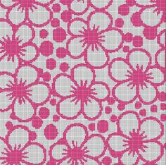 PINK+FLOWER+MOSAIC+TAPESTRY+STYLE+CROCHET+AFGHAN+PATTERN+GRAPH