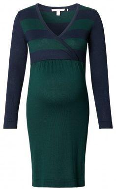Dámské šaty pro těhotné s dlouhým rukávem ESPRIT MATERNITY - zelená