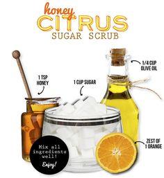 DIY Honey Citrus Sugar Scrub Recipe