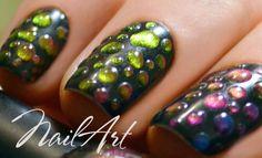 Nail Art Капли Хамелеоны | Совмещаем лак с гель-лаком | MixStyleCappuccino