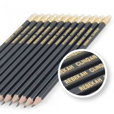 Our classic dark navy Personalised Graphite Pencils are the perfect gift for anyone who loves to put pencil to paper. Our high quality Personalised Graphite Pencils come in packs of each with a rubber tip, and can be personalised for th. Personalized Pencils, Personalized Stationary, Spade Symbol, Keyboard Symbols, Smart Set, Gold Letters, Stocking Fillers, Graphite, Colored Pencils
