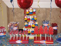 vintage rocket theme kids party - Google Search