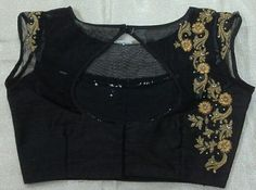 Boat Neck Blouse with Maggam Work