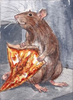 Pizza Rat enthusiast visits Brooklyn tattoo parlor for a pizza tat ...