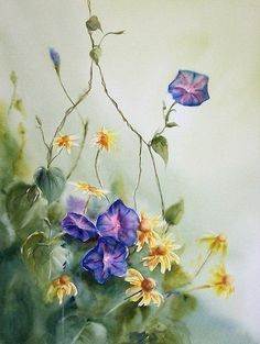 Watercolor SketchFloral PaintingsPainted FlowersArt KidsDisney ArtFlower ArtArt TutorialsAllahA4