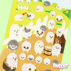 Funny Sticker World Felt Stickers - Sheep - Kawaii Stickers - Stationery   Blippo.com - Japan & Kawaii Shop