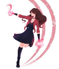 Normally, I don't like Wanda's usual design, but this fanart makes her look great!
