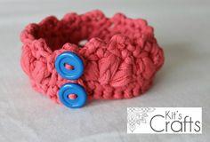 TShirt Cluster Crochet Bracelet by CraftyKristin07 on Etsy, $15.00