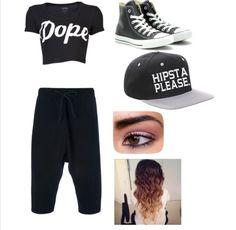 Hip hop dance show clothes. perfect