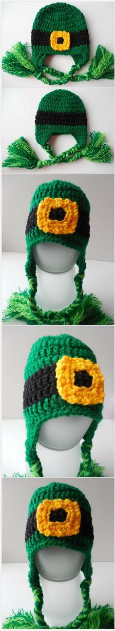 Leprechaun Hat - Adult St. Patrick's Day - Lucky Irish Hat - Handmade Crochet - Ready To Ship