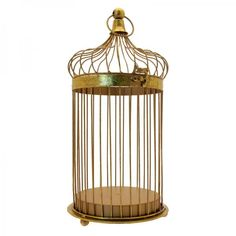 Gold Effect Bird Cage