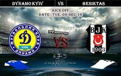 Dynamo Kyiv vs Besiktas 06.12.2016 Predictions - PPsoccer