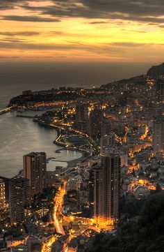 Urban Landscapes | Lava Streets. Monaco at dusk | Photo JP Mission