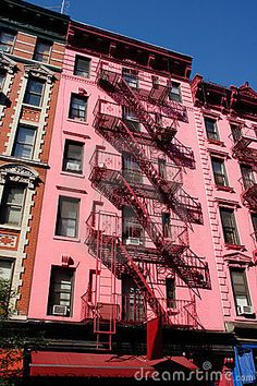 Pink Building In Soho, Nyc