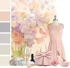 """""""Petaled Tones"""" by jafashions on Polyvore"""
