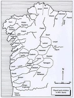 Suggested distribution of the main populi and civitates in the northwestern Iberian Peninsula according to Roman sources (After González Ruibal 2003).