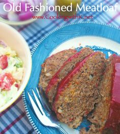 Southern | Cooking with K: Classic Old Fashioned Meatloaf {Cooked In A Cast Iron Skillet}