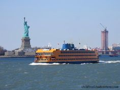 Staten Island Ferry, New York City. A great way to see the Statue of Liberty for free