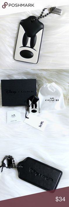 Coach x Disney Ponderous Mickey Mouse Hangtag Fob Brand new with tags! Comes packaged in a white Coach drawstring bag, wrapped in tissue paper inside the limited edition Coach x Disney black gift box. Box is then wrapped in a gorgeous bow! Makes a perfect gift or a treat to yourself! This Coach x Disney Ponderous Mickey Mouse Hangtag Fob is made of glovetanned leather. You can hang this tag off any of your favorite bags! Hangtag comes with a mini Coach metal hangtag attached. I also have the…