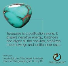 Turquoise, the Master Healer Stone, brings powerful energies to strengthen your overall body. Perfect for balancing your Throat Chakra.
