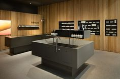 Tokyo-based Torafu Architects has recently completed the interior of the new Aesop store in Sendai's Parco 2 shopping mall in Japan. Sendai, Aesop Store, Reception Desk Design, Journal Du Design, Centre Commercial, Interior Minimalista, Retail Space, Minimalist Interior, Japanese Architecture