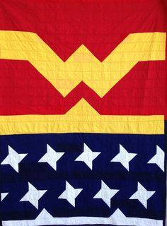 Wonder Woman Quilt! https://www.etsy.com/listing/178991450/wonder-woman-quilt