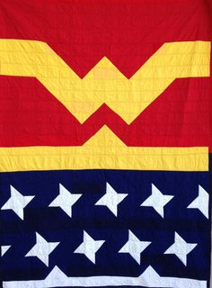Wonder Woman Quilt! https://www.etsy.com/listing/178991450/wonder-woman-quilt