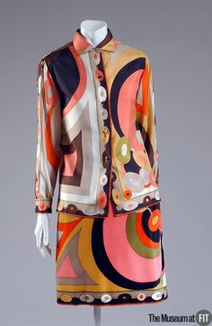 Ensemble Designer: Emilio Pucci 1914-1992 Medium: Multicolor silk twill and velveteen Date: 1967-1968