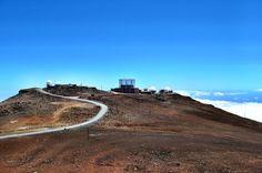 Observatories at the Summit of Haleakala Volcano, Maui