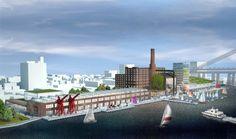 Domino Sugar Factory development plan in Brooklyn by HAO