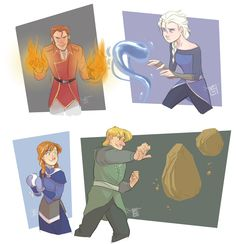 Frozen Benders by ComickerGirl; anna is a non bender :)