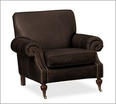 Brooklyn Leather Armchair #potterybarn
