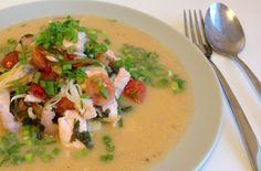 Вкусное диетическое блюдо из рыбы и морепродуктов.