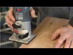 ▶ Home Remodeling Tools : How to Round Edges with the Handheld Router - YouTube