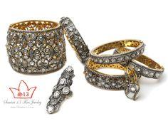 Rose cut diamond bangles by Samira 13 Diamond Bangle, Rose Cut Diamond, Designers, Jewelry Design, Bangles, Wedding Rings, Engagement Rings, My Style, Accessories