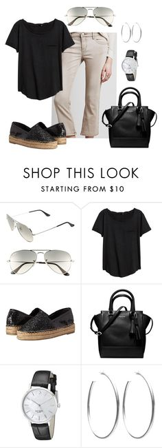 """""""6.29.16"""" by lccalifornia ❤ liked on Polyvore featuring Ray-Ban, Free People, H&M, Steve Madden, Kate Spade and Sheila Fajl"""