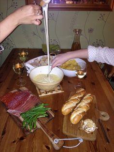 Jamie's fondue recipe