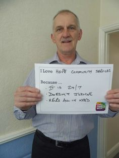 Our CEO Alan giving his reasons why he loves Hope! #ILoveSmallCharities