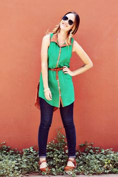 Love the colour blocking on this dress