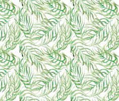 palm leaves fabric by nozzas on Spoonflower - custom fabric