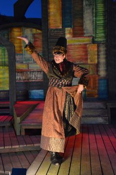 "Liam Vincent's ""Croatian clowning"" at the The Comedy of Errors dress rehearsal (6/24). Photo by Jay Yamada."