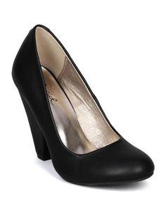Qupid Vegan Round Toe Chunky Kitten Heel Pumps Qurico-01 Black or Stone (6.5, Black). Qupid Vegan Round Toe Chunky Kitten Heel Pumps Qurico-01 Black or Stone.