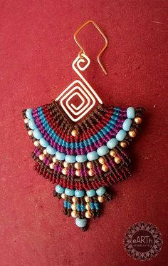 Macrame Earrings, Macrame Jewelry, Tribal Jewelry, Boho Jewelry, Fine Jewelry, Jewelry Design, Micro Macramé, Textile Jewelry, Summer Jewelry