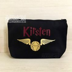 Buy these Custom Snitch Make Up Bags as lovely gifts for your bridal party. Heat Press Vinyl, Snitch, Blush Roses, Maid Of Honor, Mother Of The Bride, Lip Balm, South Africa, Wedding Gifts, Polka Dots