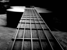 Acoustic Guitar Black and White Photography !