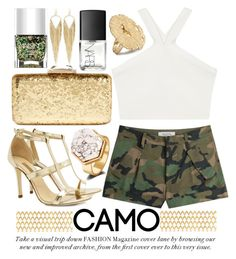 """CAMO"" by noraaaaaaaaa ❤ liked on Polyvore featuring Nails Inc., BCBGMAXAZRIA, Dee Keller, Valentino, KOTUR, NARS Cosmetics, Jules Smith, Barclay Butera and camostyle"