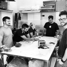 Ultimo giorno di workshop. Visita al nostro atelier. #designtrasparenteworkshop