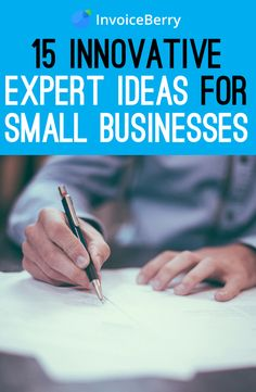 Get your business off the ground with our 15 innovative ideas from the experts  http://blog.invoiceberry.com/2017/01/15-innovative-ideas-get-business-off-ground-expert-tips/