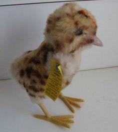 Antique toy Steiff animal chick chicken.