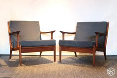 Paire fauteuils scandinaves vintage 1960